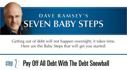 Dave Ramsey's 7 Baby Steps: Step 2 – Pay Off All Debt Using The ...