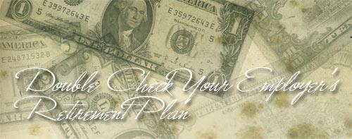 retirement plan double check