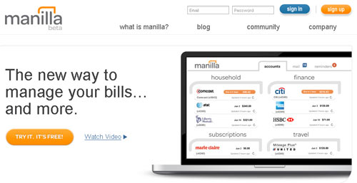 manilla bill manager review