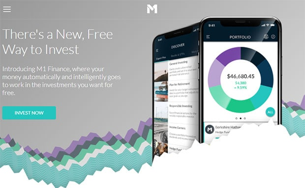 M1 Finance review homepage