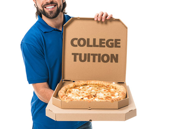 deliver pizzas for free college tuition