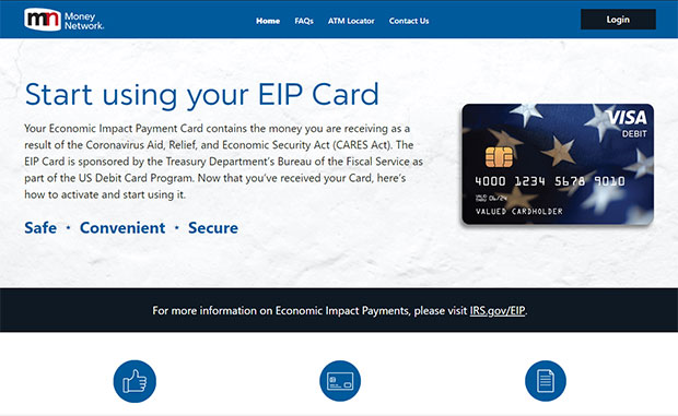 economic impact payment debit card